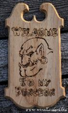 Welcome to my dungeon adventure gaming custom monster sign